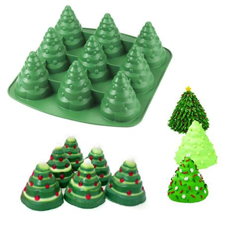 christmas tree cake mould silicone cookie chocolate