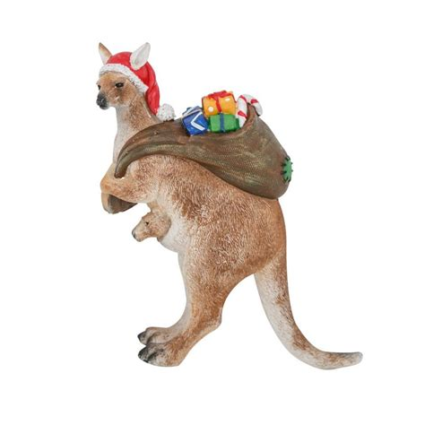 australiana christmas decorations roo stand left figure16cm decorations gifts lights australia