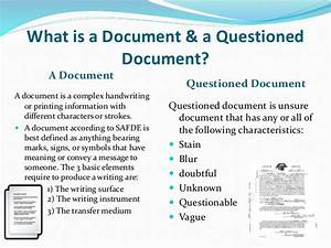 document examinar With questioned documents powerpoint