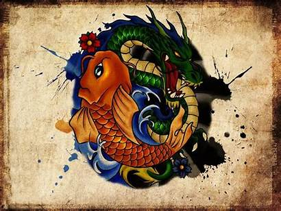 Koi Tattoo Dragon Fish Wallpapers Yakuza Designs