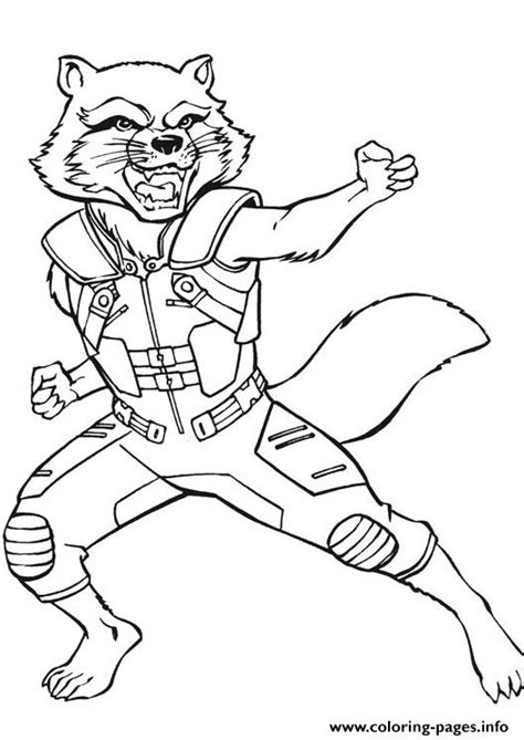 avengers endgame rocket kung fu coloring pages printable