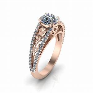 pink gold rose engagement ring jewelry designs With wedding rings pink gold