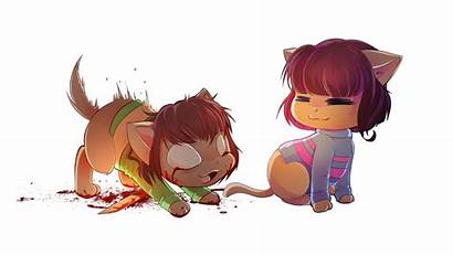 Frisk Chara Cat Version Undertale Ckibe Deviantart