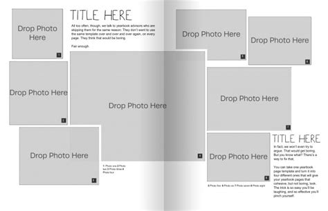 Templates For Yearbook Pages by The Only Yearbook Page Template You Need