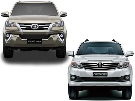Specification Comparison Toyota Fortuner Old Vs New