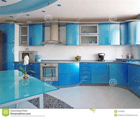 cuisine bleue cuisine bleue photo libre de droits image 10199935