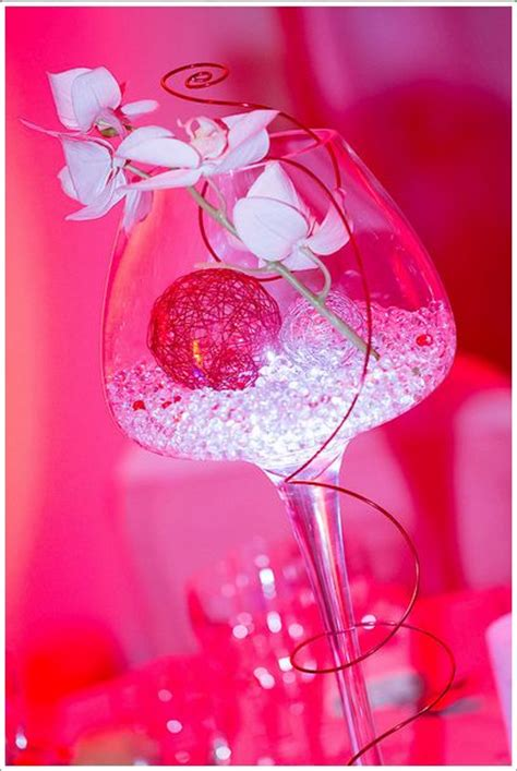 centre de table illumin 233 perle d eau fil d aluminium