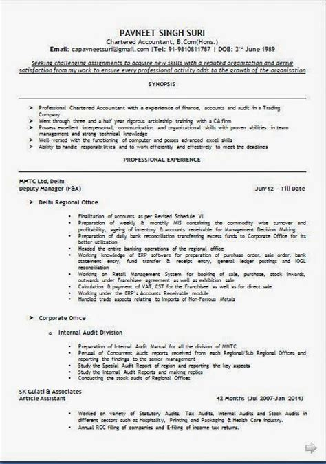 Exle Of Cv For by A Resume Sle Template Exle Ofexcellent