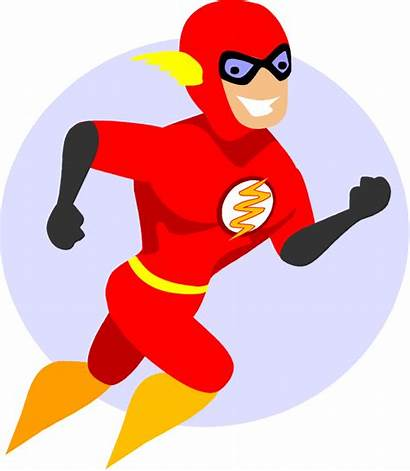 Flash Superhero Cartoon Clip Clipart Vector Character