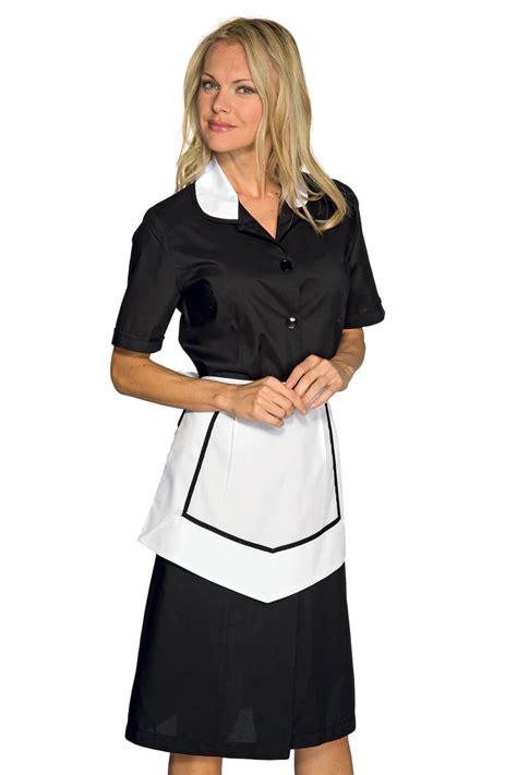 blouse femme de chambre blouse et tablier femme de chambre manches courtes noir