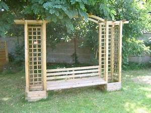 pergola mit bank und rankgitter fur den garten With katzennetz balkon mit garden pergola