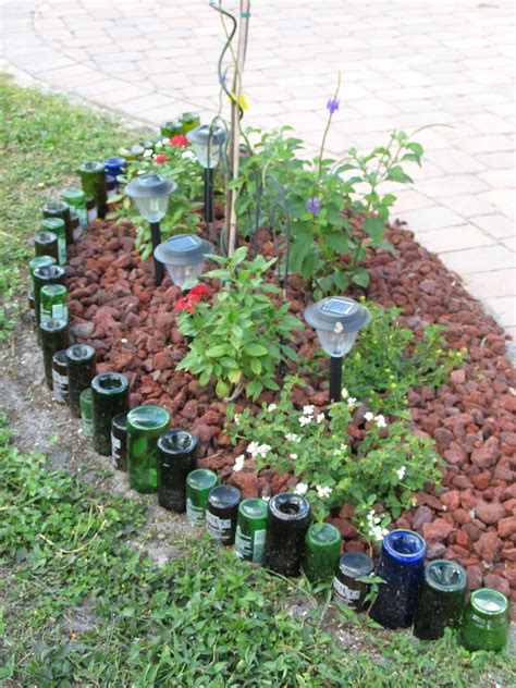 bottle border gardening ideas garden border edging