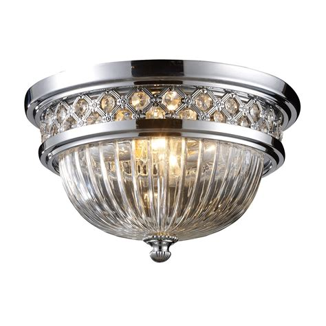 chrome flush mount ceiling light elk lighting 11225 2 2 light flush mount ceiling light