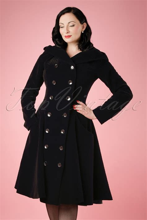 heather hooded quilted velvet coat  black