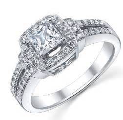white gold engagement rings 1 carat princess engagement ring in white gold jewelocean