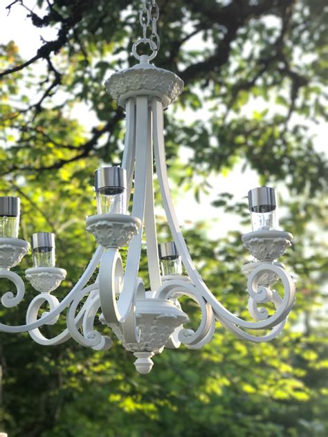 diy solar light hanging chandelier hallstrom home