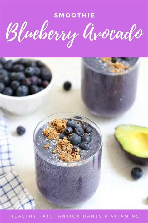 A smoothie is a great breakfast or snack option and this avocado smoothie is both tasty and nutritious. Blueberry avocado smoothie keto | Blueberry avocado smoothie, Avocado smoothie, Blueberry