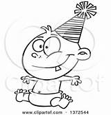 Happy Diaper Clipart Hat Wearing Comic Cartoon Sitting Sketchman Coloring Party Pages Template Getdrawings Drawing Sketch Poster sketch template