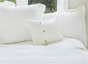 Housse De Couette En Lin : housse de couette en lin blanc pur lin cie tissu en lin ~ Melissatoandfro.com Idées de Décoration