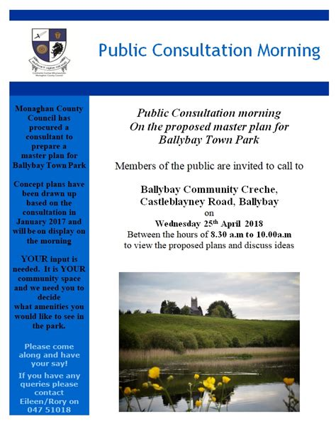 Public Consultation The Master Plan For Ballybay Town