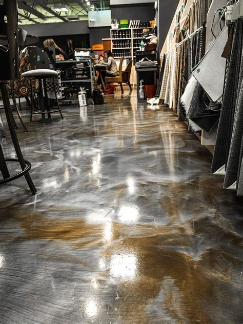 bronze and silver metallic epoxy floor   Wannabe my home