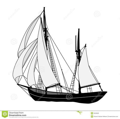 Old Sailboat Outline by Sailing Ship Stock Vector Image Of Yacht Schooner