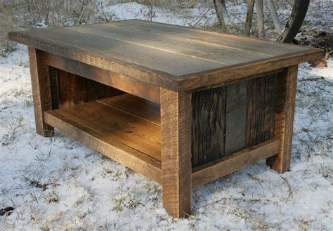 hand crafted rustic reclaimed coffee table  echo peak