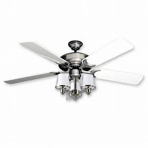 Ceiling lights design stainless steel fan with