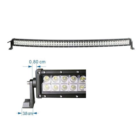 50 quot inch 288w spot flood combo cree curved led light bar