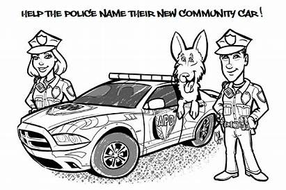 Police Coloring Pages Dodge Charger Station Law