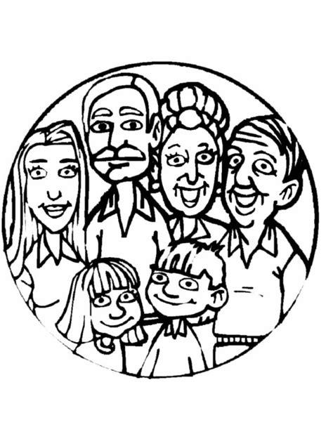 disegno  quadretto  famiglia da colorare  bambini