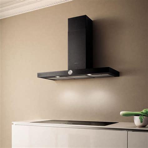 hotte de cuisine noir elica hotte de cuisine lol en inox et bandeau noir livraison à domicile prf0097906