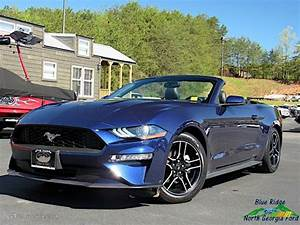 2018 Mustang EcoBoost Convertible - Kona Blue / Ebony photo #1 in 2020 | Ford mustang ...