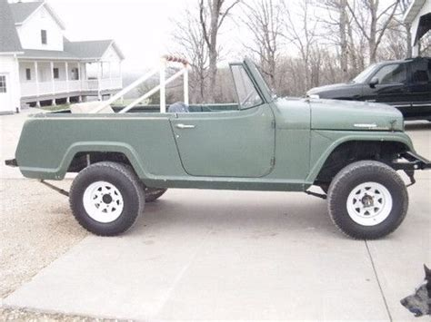 commando green jeep lifted buy used 1969 jeep jeepster commando 225 v 6 4x4 in