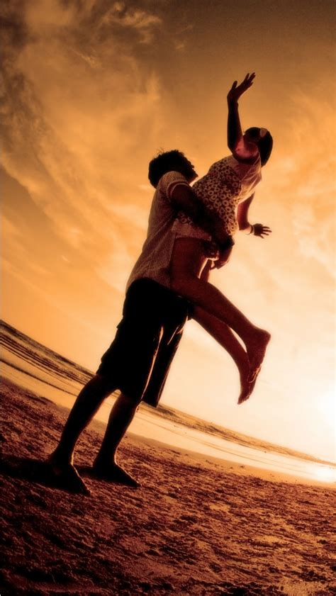 Together Beach Romantic Love Wallpapers  640x1136 240608