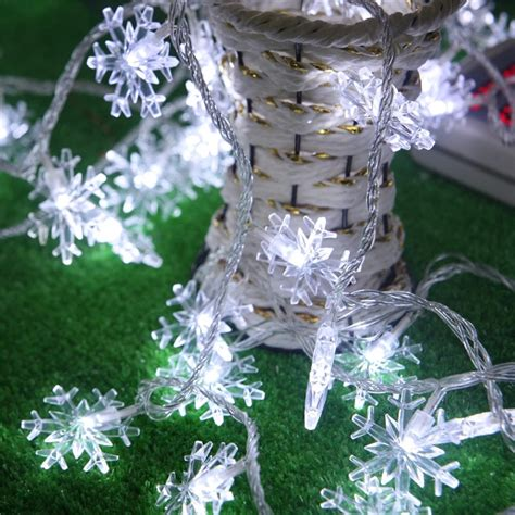 snowflake string lights outdoor 5m 50 led fairy lights battery operated snowflake led