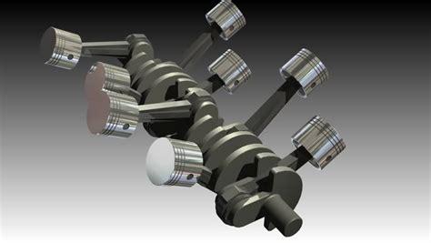V8 Internal Combustion Engine 3d (hd, 30fps, Loop, 3d