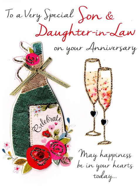 son daughter  law anniversary greeting card cards love kates