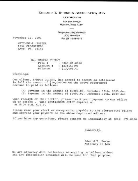 settlement offer letter marital settlements information