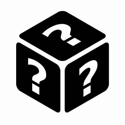 Random Icon Dice Perspective Mystery Faces Six