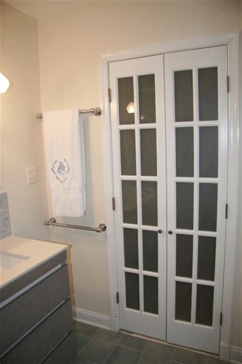 Mini French Doors With Frosted Glass Add Euorpean Flair