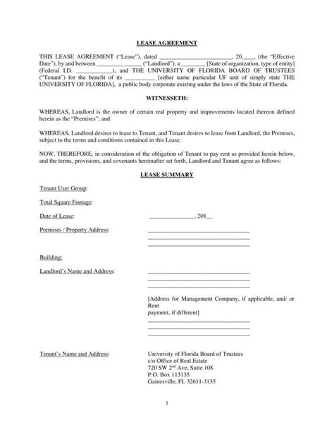 office lease agreement templates  word