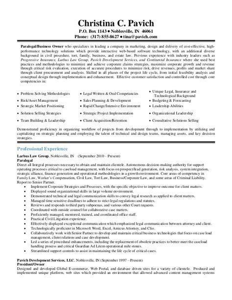 paralegal skills resume