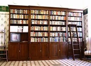 Regalwand Mit Türen : regalwand mit t ren und leiter erle massiv 270x400x45cm ~ Michelbontemps.com Haus und Dekorationen