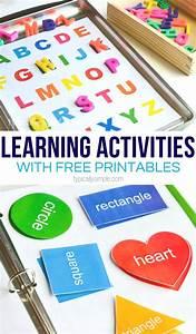 Learning Activities Binder Free Printable Preschool