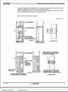 Hino Truck Body Builder Book Us005a Manuals Guides 2008 En