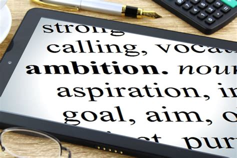 Ambition - Tablet Dictionary image