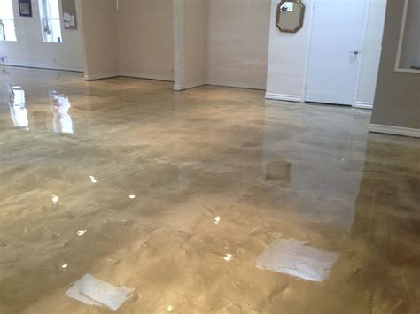 metallic epoxy floor fabulous basement cave with metallic floor in clayton nc by witcraft