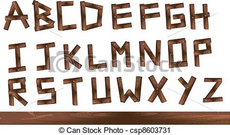 wood letters wooden texture letters isolated  white