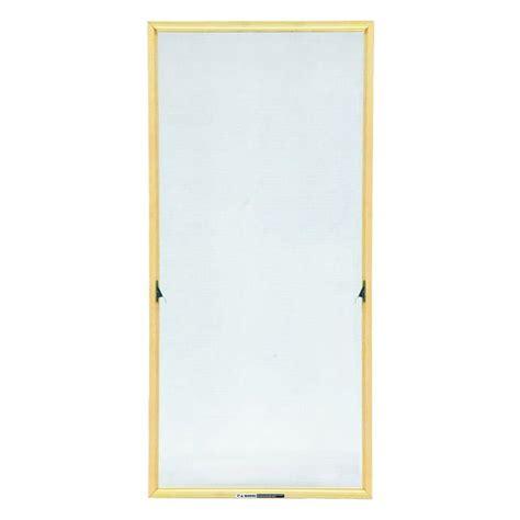 marvin         wood frame adjustable window screen aws  home depot